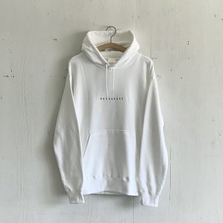BAYGARAGE  Pullover Hoodie <br>Embroidered Logo<br>White