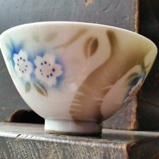 吹き絵の茶碗 桜