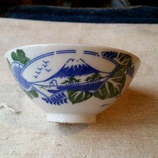 印判手 茶碗 富士と桐菊