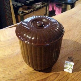 陶器製 保存容器 茶釉