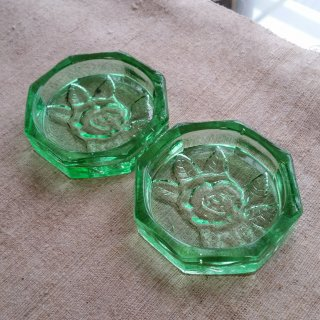 ガラスの小皿/2枚セット