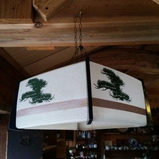 レトロな電気傘 松