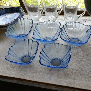 レトロガラスの小鉢 5個セット