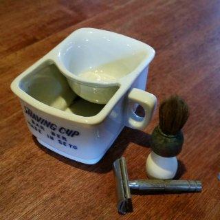 陶器のシェービングカップセット