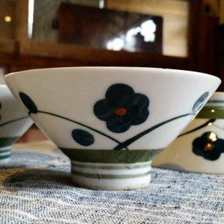 青い梅のお茶碗 1個
