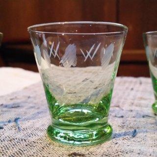 切り子ガラスのおちょこ 1個