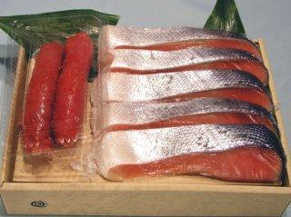 【チリ産】塩銀鮭(5切れ)と明太子のセット