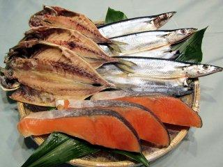 銀鮭、あじ開き、さんま開きの3種セット
