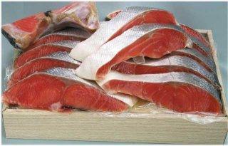 【カナダ産】塩紅鮭1尾切身(2.0kg)箱詰め