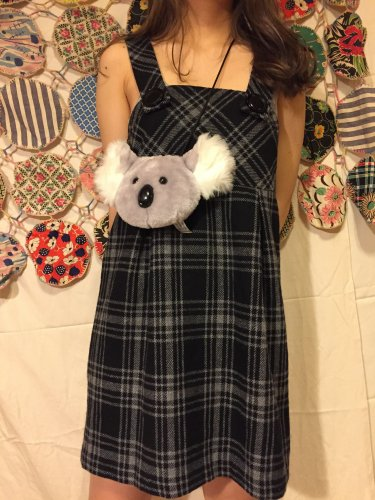 used black check dress
