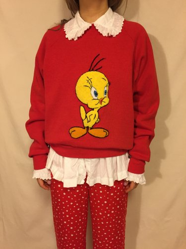 FRUIT OF THE LOOM(90's)Tweety Bird sweat
