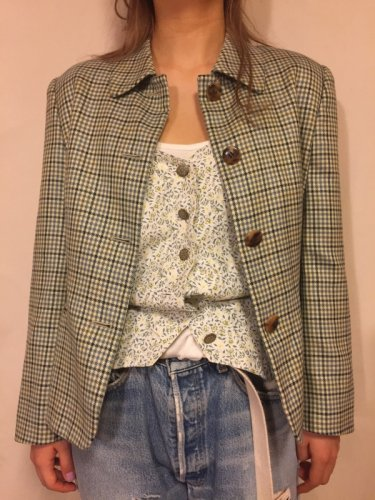 Burberry check jacket