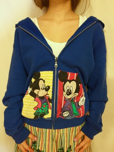 used remake Mickey Mouse hooded parker