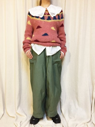pink mohair knit