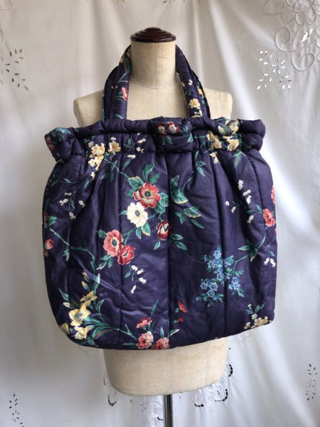 floral fabric quilting bag