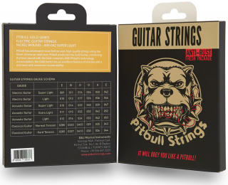 Pitbull Strings for 6strings E.Guitar