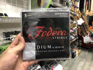 Fodera Strings 5st. Nickel Medium w/ Heavy B 45-130
