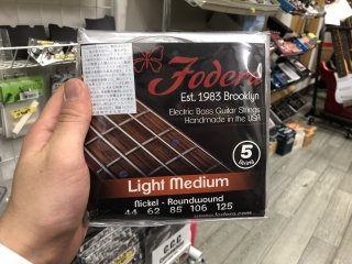 Fodera Strings 5st. Nickel Light Medium 44-125