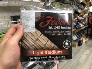 Fodera Strings 6st. Stainless Light Medium 28-125