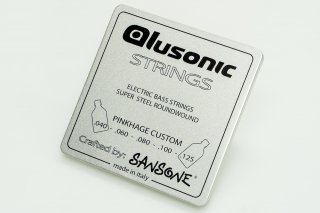 【new】Alusonic Custom 5 Strings Pinkhage custom 40-125 with deluxe metal box made in Italy