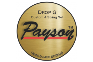 【new】Payson Fanned  Drop G NS 4 String Set 160T-070 36.25