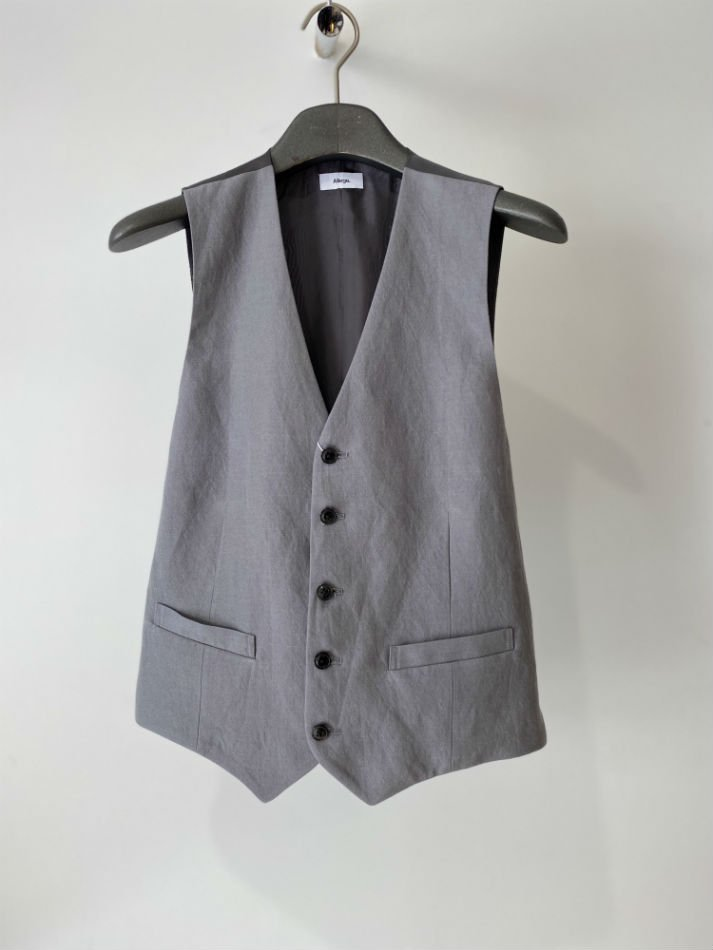 ALLEGE<br />[60%off] Wool Linen Gilet / GRAY<img class='new_mark_img2' src='https://img.shop-pro.jp/img/new/icons20.gif' style='border:none;display:inline;margin:0px;padding:0px;width:auto;' />