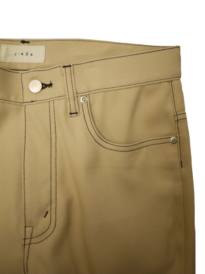 JieDa<br />FLARE PANTS / BEIGE