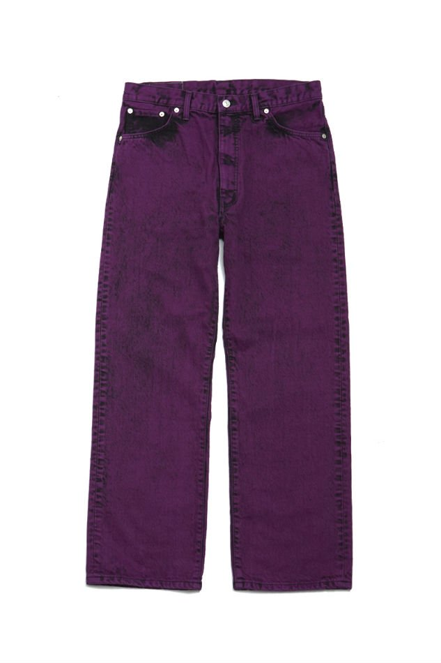 soe<br />[30%off] Bleach Color Jeans collaborated with EDWIN / PURPLE