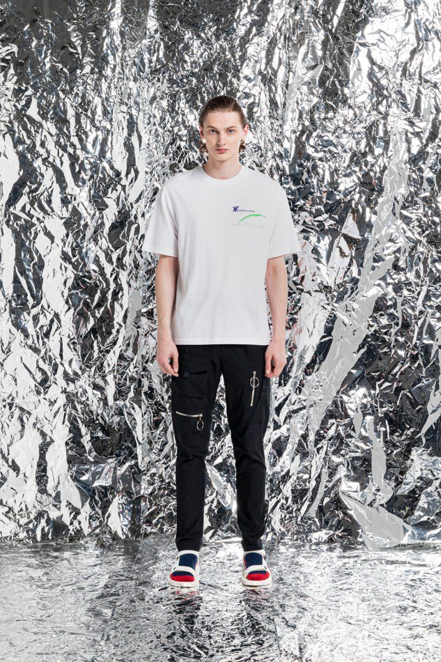 YUKI HASHIMOTO<br />LOOSE FIT BLACK INTELLIGENCE T-SHIRTS / WHITE