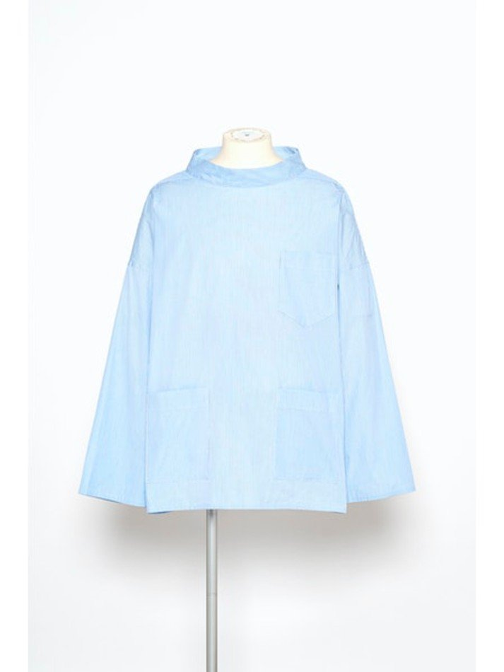 YUKI HASHIMOTO<br />[40%off] WORKSHOP PULLOVER / BLUE STRIPE <img class='new_mark_img2' src='https://img.shop-pro.jp/img/new/icons20.gif' style='border:none;display:inline;margin:0px;padding:0px;width:auto;' />