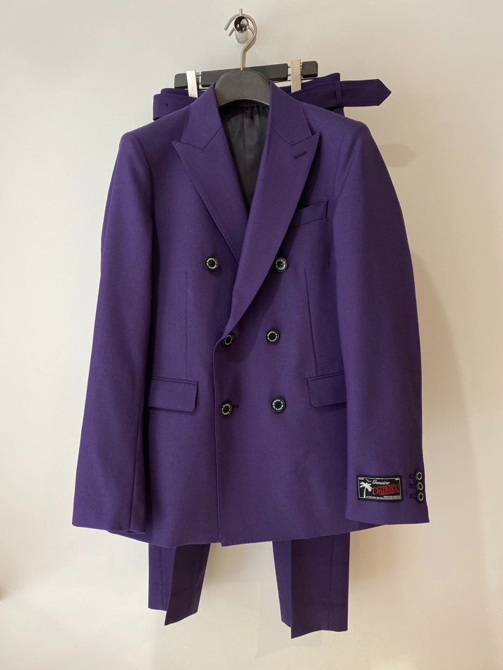 DAIRIKU<br />Jimi Hendrix Double Tailored Jacket & Bush Detail WoolSlacks with Velt SET / Purple 