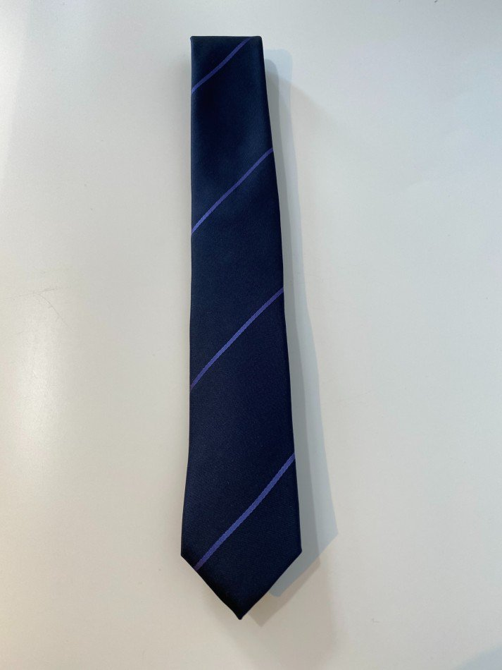 LITTLEBIG<br />Stripe Silk Tie / Navy 