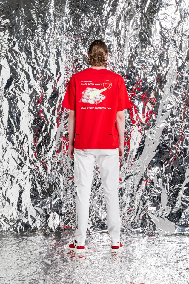 YUKI HASHIMOTO<br />METHOLOGY GRAPHIC T-SHIRTS / RED