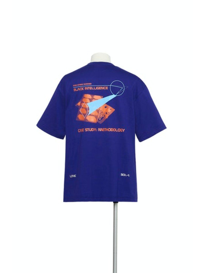YUKI HASHIMOTO<br />METHOLOGY GRAPHIC T-SHIRTS / BLUE
