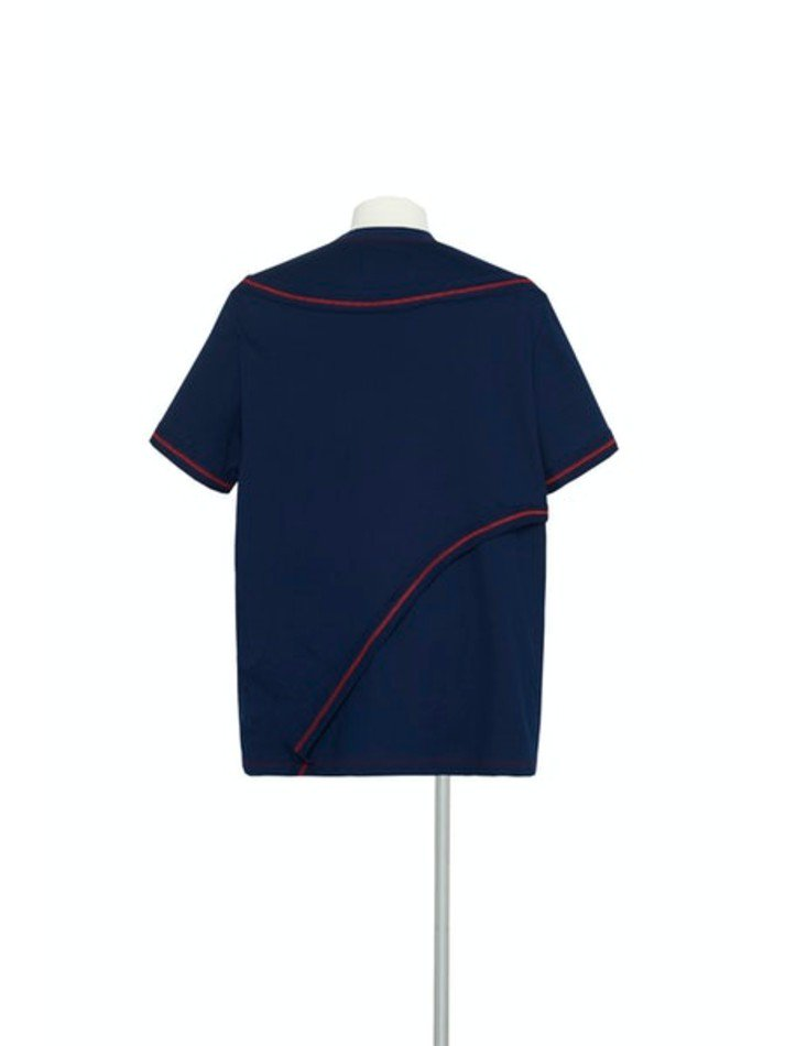 YUKI HASHIMOTO<br />CONTRAST LAYERED T-SHIRTS / NAVY