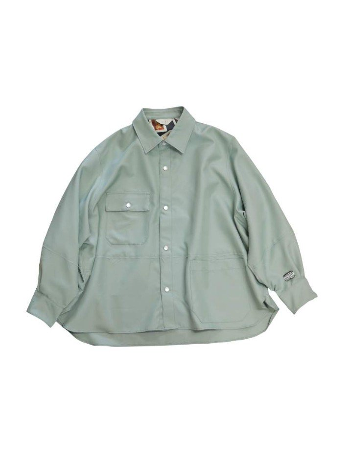 JieDa<br />CUT OFF OVER SHIRT / MINT <img class='new_mark_img2' src='https://img.shop-pro.jp/img/new/icons14.gif' style='border:none;display:inline;margin:0px;padding:0px;width:auto;' />