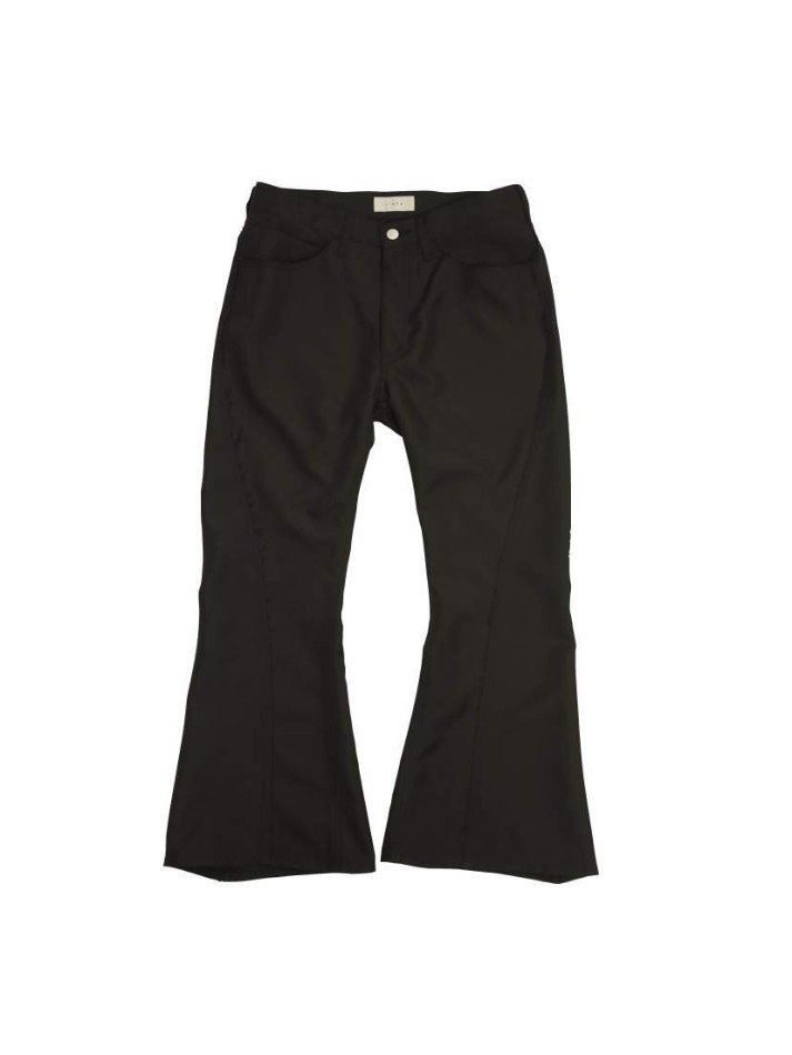 JieDa<br />POLYESTER BOOT CUT PANTS / BLACK <img class='new_mark_img2' src='https://img.shop-pro.jp/img/new/icons47.gif' style='border:none;display:inline;margin:0px;padding:0px;width:auto;' />