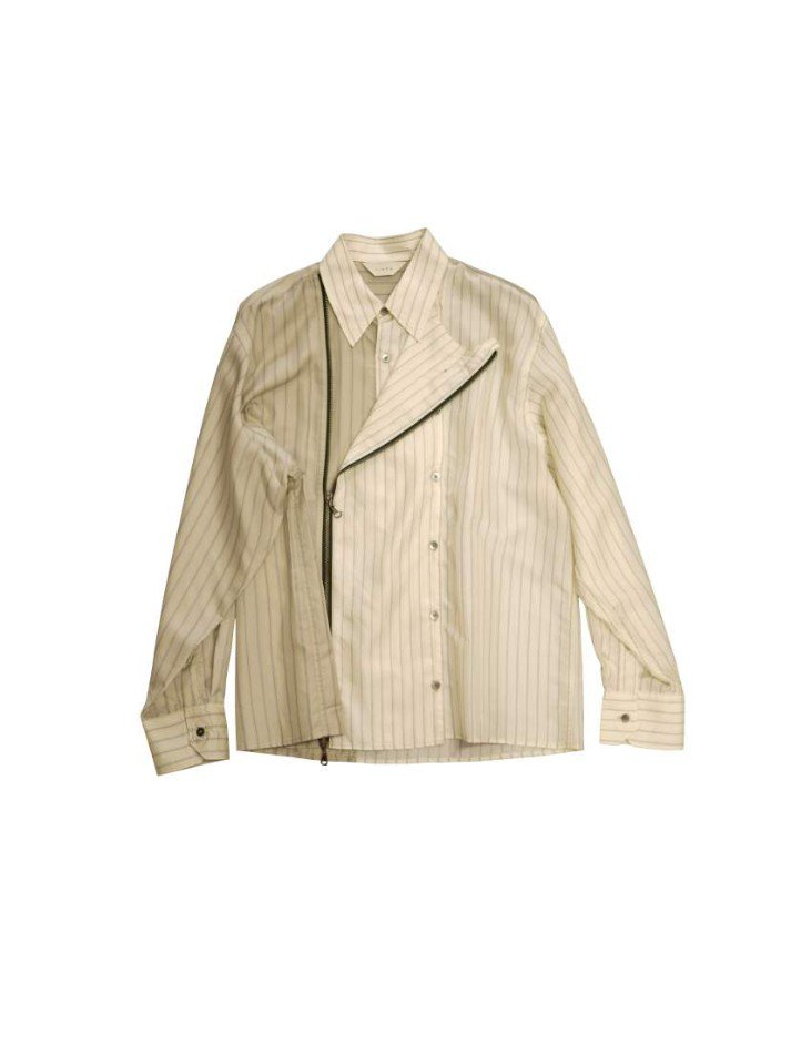 JieDa<br />ZIP & BUTTON SHIRT / BEIGE <img class='new_mark_img2' src='https://img.shop-pro.jp/img/new/icons14.gif' style='border:none;display:inline;margin:0px;padding:0px;width:auto;' />