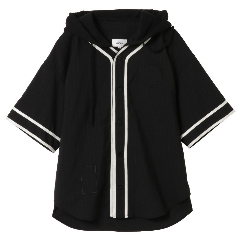 kudos<br />TAILORD BASEBALL SHIRT / BLACK