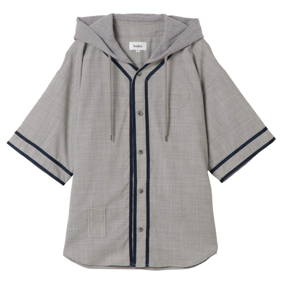 kudos<br />TAILORD BASEBALL SHIRT / GRAY