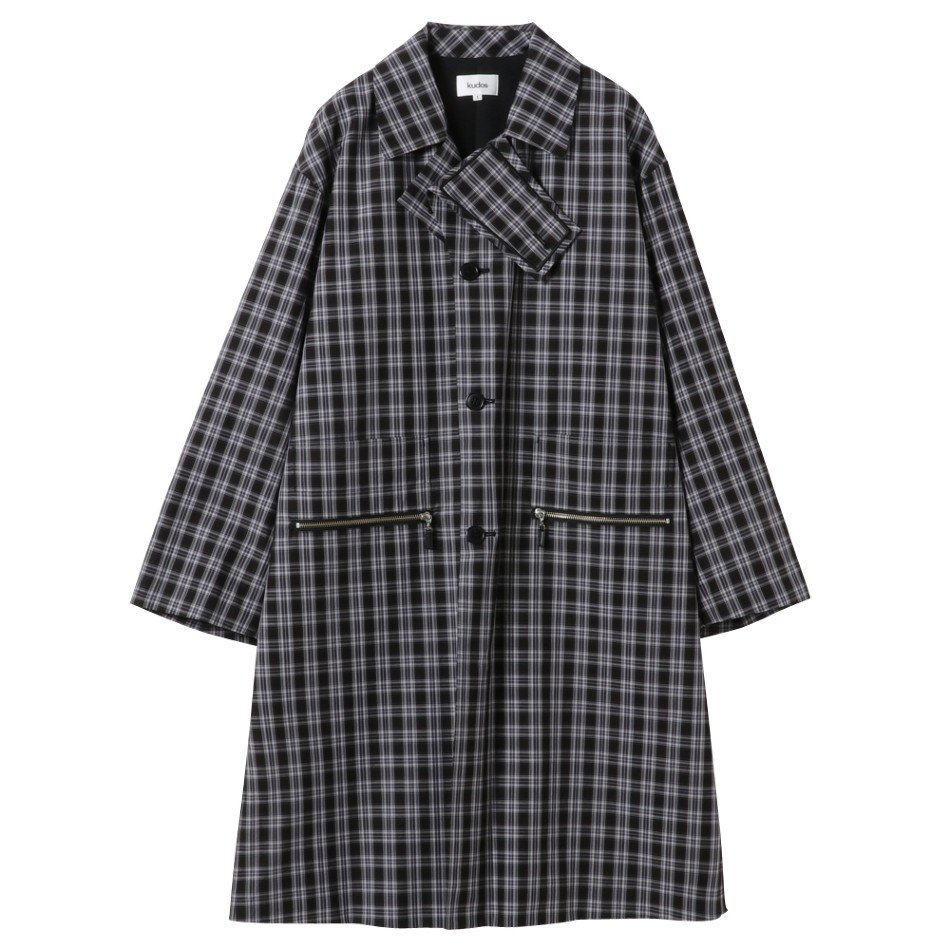 kudos<br />CHECK PATCH COAT / BLACK <img class='new_mark_img2' src='https://img.shop-pro.jp/img/new/icons47.gif' style='border:none;display:inline;margin:0px;padding:0px;width:auto;' />