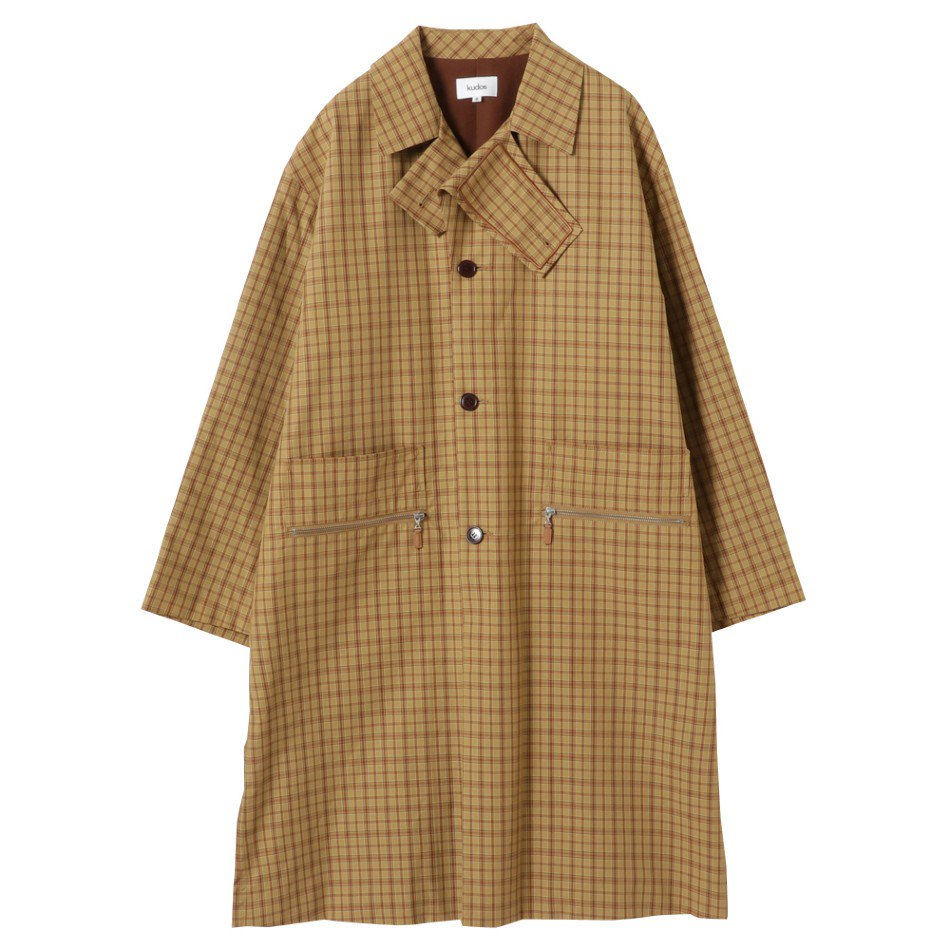 kudos<br />CHECK PATCH COAT / BEIGE <img class='new_mark_img2' src='https://img.shop-pro.jp/img/new/icons47.gif' style='border:none;display:inline;margin:0px;padding:0px;width:auto;' />
