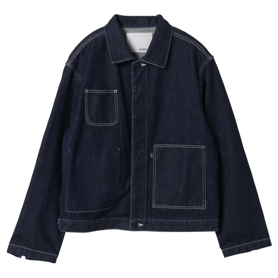 kudos<br />PATCH POCKET DENIM JACKET / INDOGO