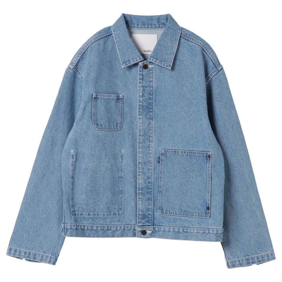 kudos<br />PATCH POCKET DENIM JACKET / BIO 