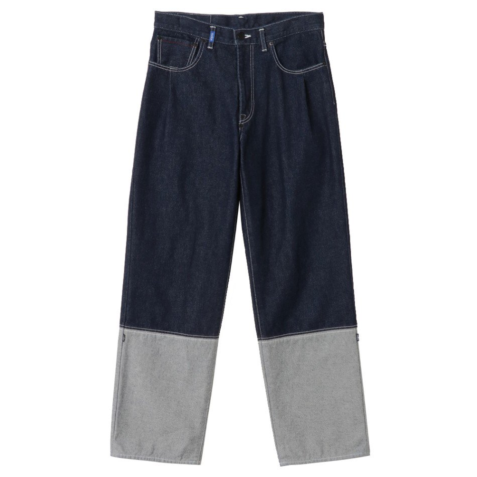 kudos<br />2TONE DENIM PANTS / INDOGO