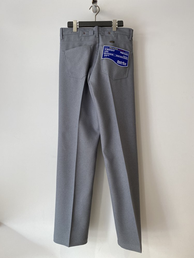 DAIRIKU<br />Straight Flasher Pressed Pants / Concrete <img class='new_mark_img2' src='https://img.shop-pro.jp/img/new/icons14.gif' style='border:none;display:inline;margin:0px;padding:0px;width:auto;' />