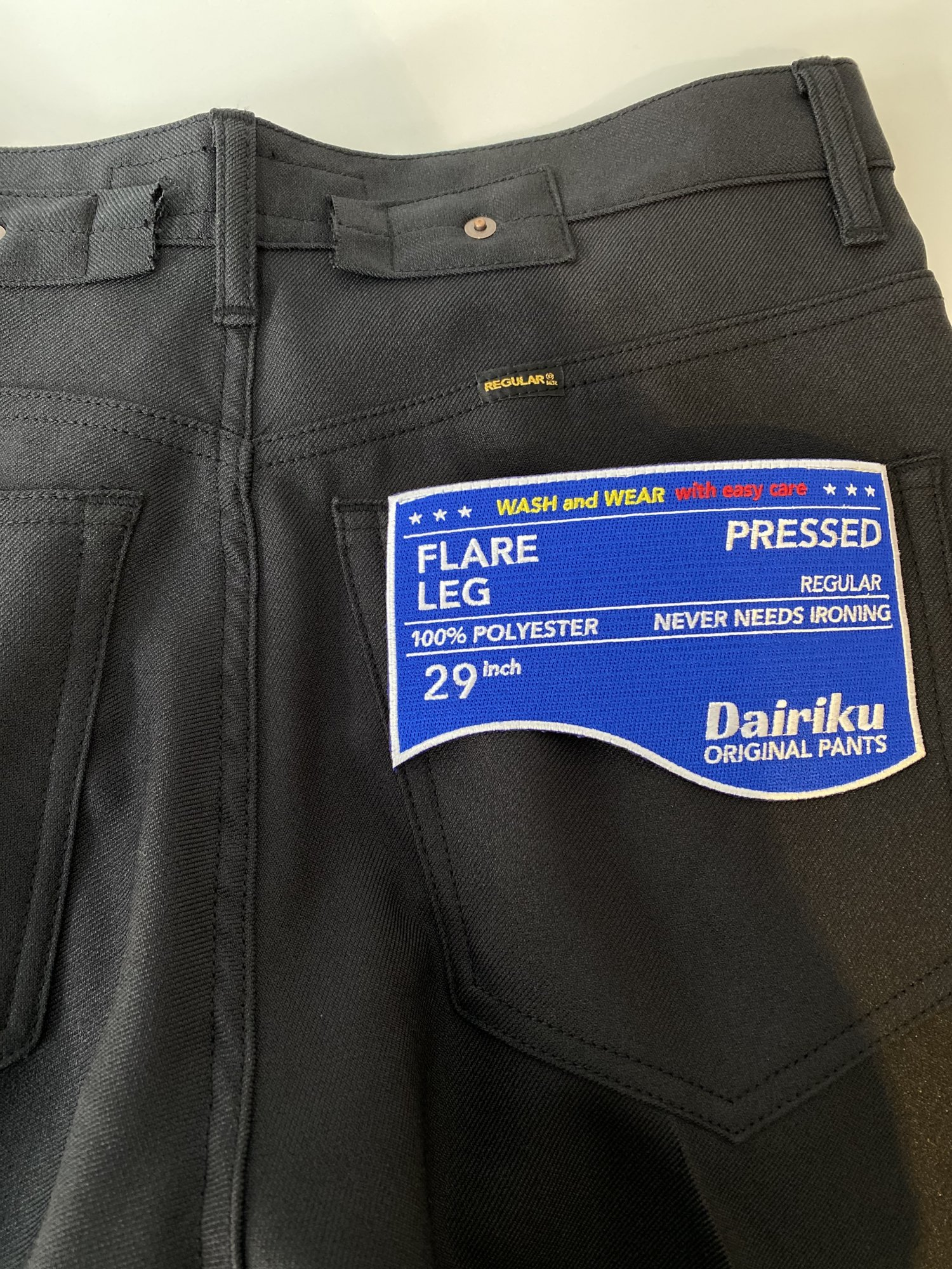 DAIRIKU<br />Flare Flasher Pressed Pants / Black  <img class='new_mark_img2' src='https://img.shop-pro.jp/img/new/icons14.gif' style='border:none;display:inline;margin:0px;padding:0px;width:auto;' />