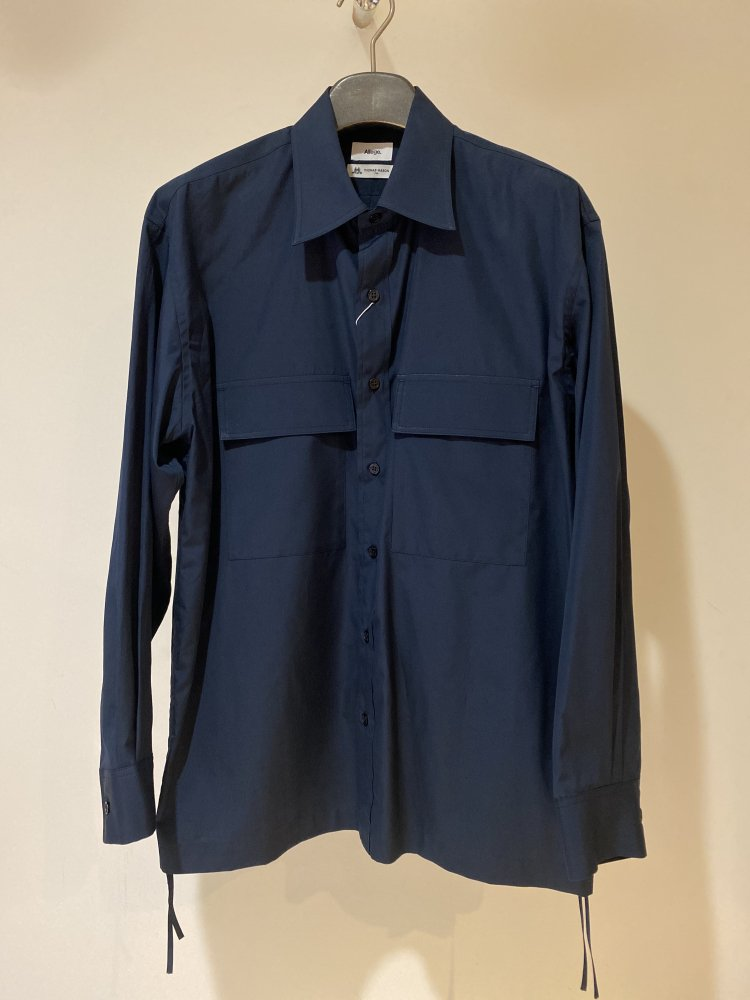 ALLEGE<br />W Pocket Gather Shirt / NAVY