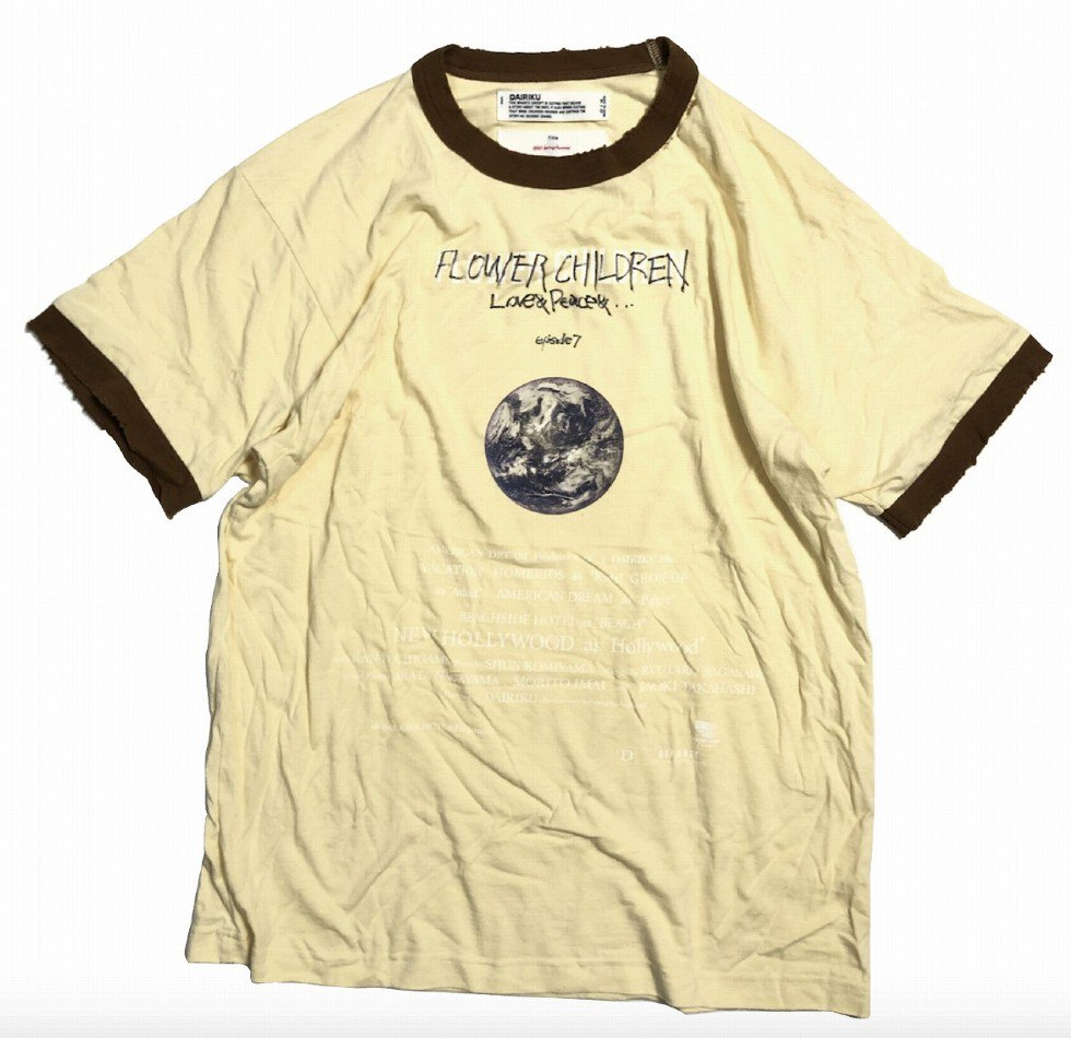 DAIRIKU<br />Earth Thrift Trim Tee / Morning <img class='new_mark_img2' src='https://img.shop-pro.jp/img/new/icons47.gif' style='border:none;display:inline;margin:0px;padding:0px;width:auto;' />