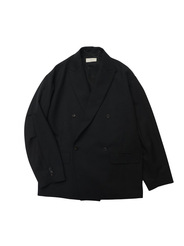 JieDa<br />DOUBLE TAILORED JACKET & STRAIGHT SLACKS / BLACK<img class='new_mark_img2' src='https://img.shop-pro.jp/img/new/icons14.gif' style='border:none;display:inline;margin:0px;padding:0px;width:auto;' />